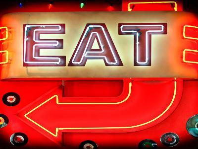"Retail Signage ""Eat"", Restaurant Sign, New York, USA-Philippe Hugonnard-Photographic Print"