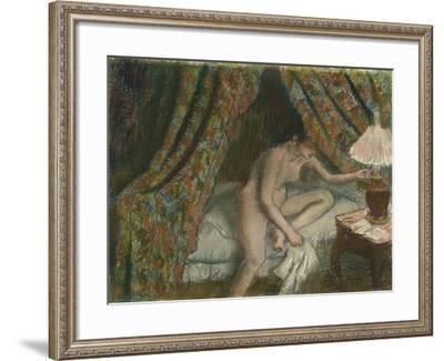 Retiring, C.1883-Edgar Degas-Framed Giclee Print
