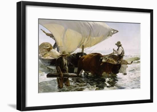 Retour de pêche, halage de la barque-Joaquín Sorolla y Bastida-Framed Giclee Print