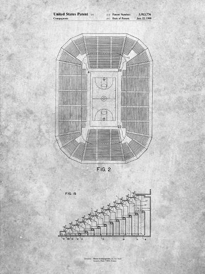 Retractable Arena Seating Patent-Cole Borders-Art Print