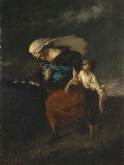 Retreat from the Storm, c.1846-Jean-Francois Millet-Giclee Print