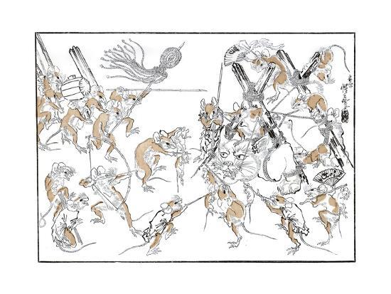 Retribution, the Rats and the Cat, 1878-Kiosai Kiosai-Giclee Print