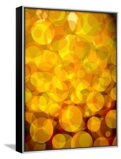 Retro Abstract Pattern of Bubbles--Framed Canvas Print