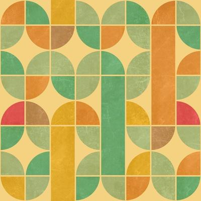 Retro Abstract Seamless Pattern With Seamless Texture-Heizel-Art Print