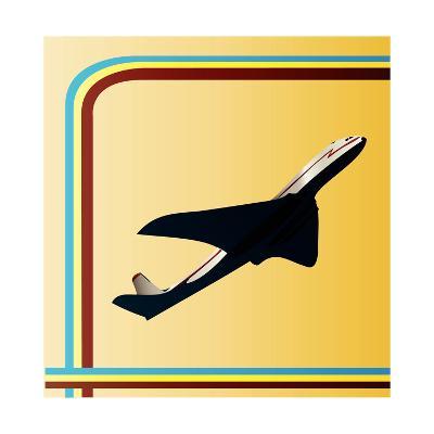 Retro Airliner Backgroun-Petrafler-Art Print
