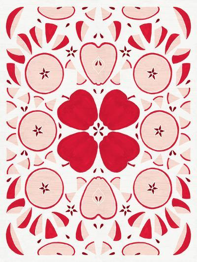 Retro Apple Otomi Monotone-Elyse DeNeige-Art Print