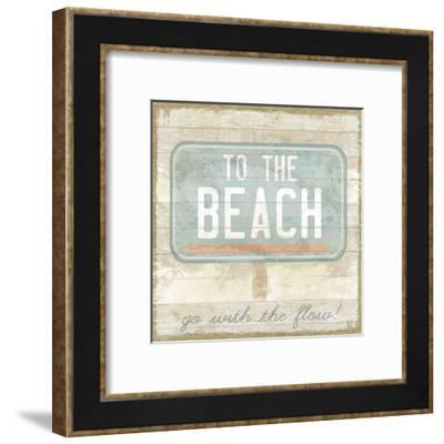 Retro Bay - Sand-Clara Wells-Framed Giclee Print