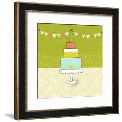 Retro Birthday II-Chariklia Zarris-Framed Art Print