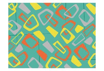 Retro Blocks Mate-Jace Grey-Art Print
