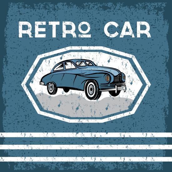 Retro Car Old Vintage Grunge Poster- UVAconcept-Art Print