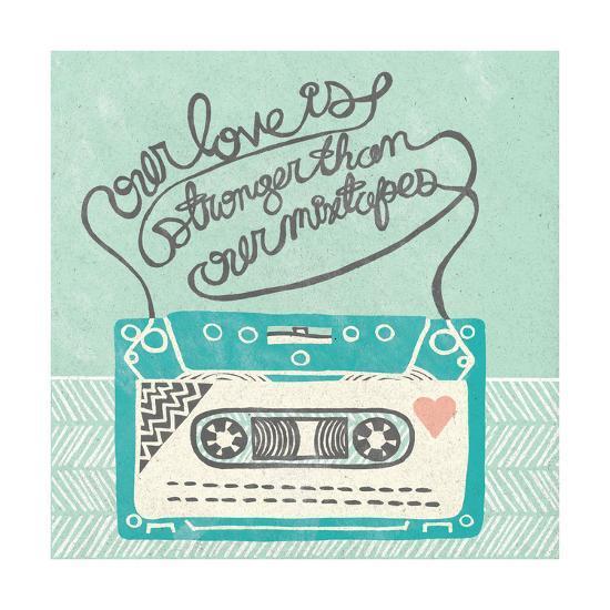 Retro Cassette Gray-Mary Urban-Art Print