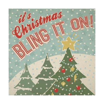 Retro Christmas IX-Janelle Penner-Art Print