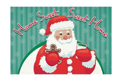 Retro Christmas V Bright-Janelle Penner-Art Print