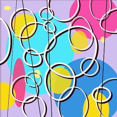 Retro Circles Pattern--Giclee Print
