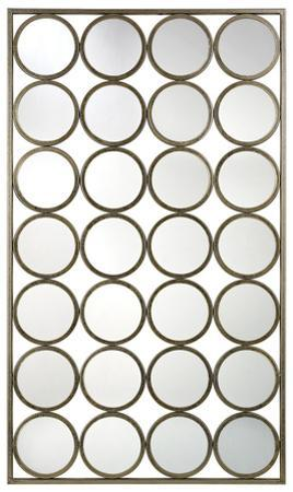 Retro Circles Wall Mirror
