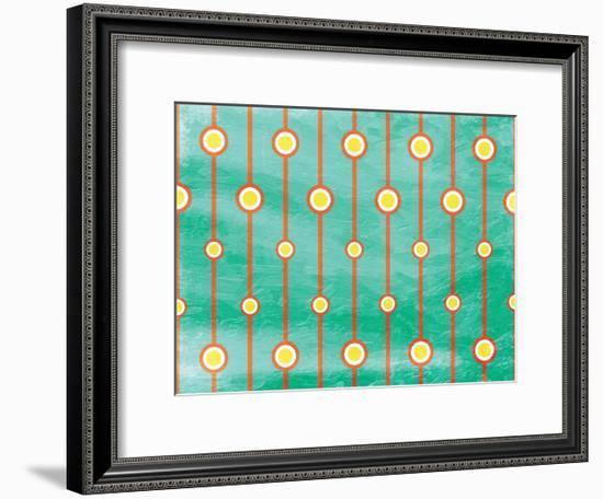 Retro Circles-Jace Grey-Framed Art Print