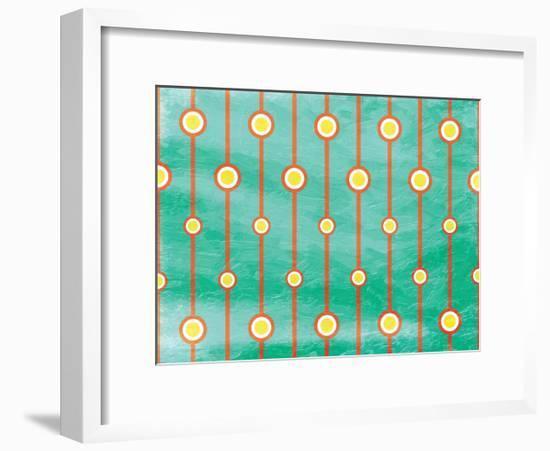 Retro Circles-Jace Grey-Framed Art Print