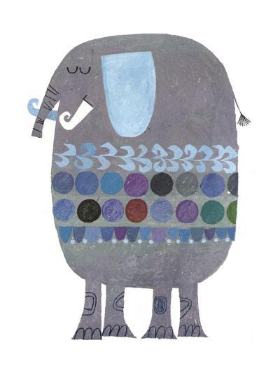 Retro Elephant--Art Print