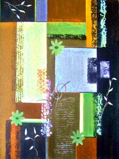 Retro Floral 1-Ruth Palmer-Art Print