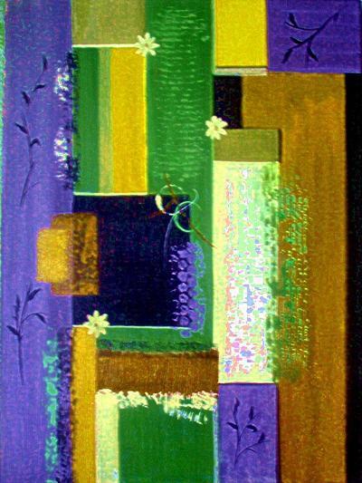 Retro Floral 2-Ruth Palmer-Art Print