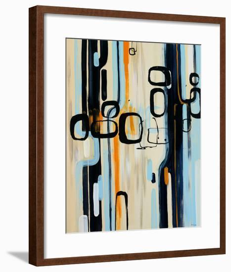 Retro I-Bridges-Framed Giclee Print