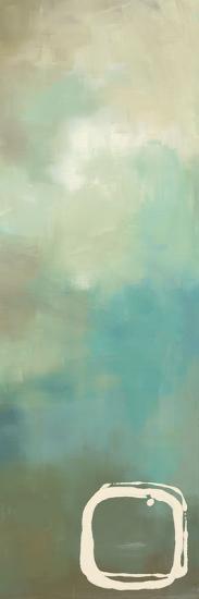 Retro in Aqua and Khaki I-Laurie Maitland-Art Print