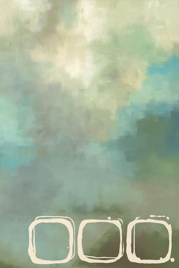 Retro in Aqua and Khaki II-Laurie Maitland-Art Print