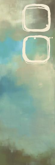 Retro in Aqua and Khaki III-Laurie Maitland-Art Print