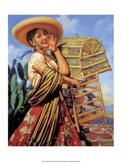 Retro Mexican Poster,--Art Print