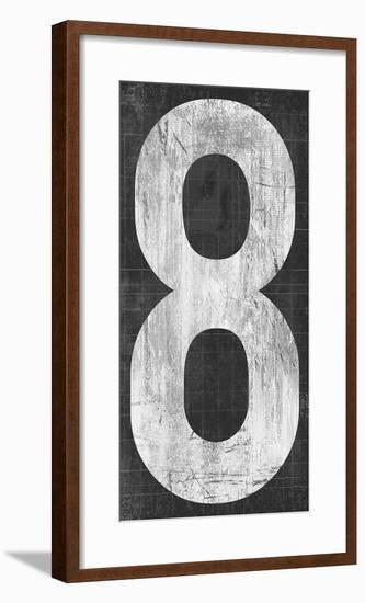 Retro Numbers - Eight-Tom Frazier-Framed Giclee Print
