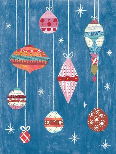 Retro Ornament II Blue-Courtney Prahl-Art Print