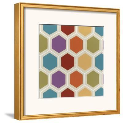 Retro Pattern I-Erica J^ Vess-Framed Art Print