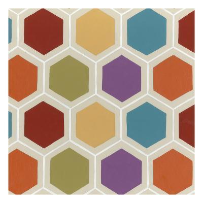 Retro Pattern IV-Erica J^ Vess-Art Print