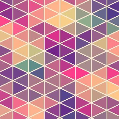 Retro Pattern of Geometric Shapes. Colorful Mosaic Backdrop. Geometric Hipster Retro Background, Pl-Markovka-Art Print
