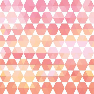 Retro Pattern of Geometric Shapes-Little_cuckoo-Art Print