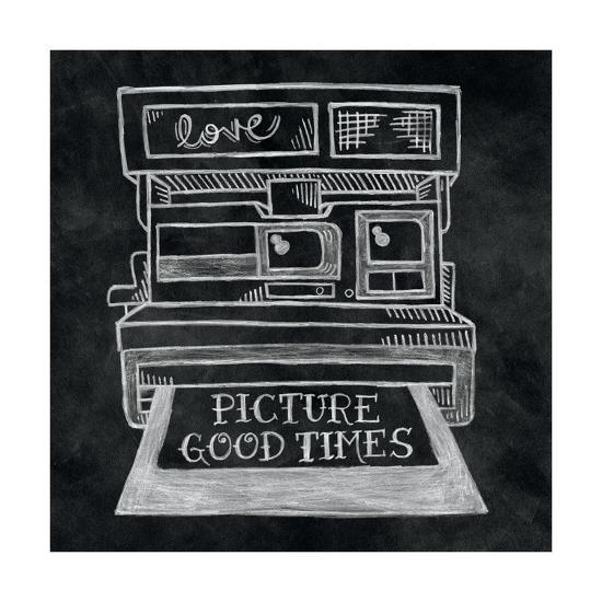 Retro Polaroid Chalk-Mary Urban-Art Print