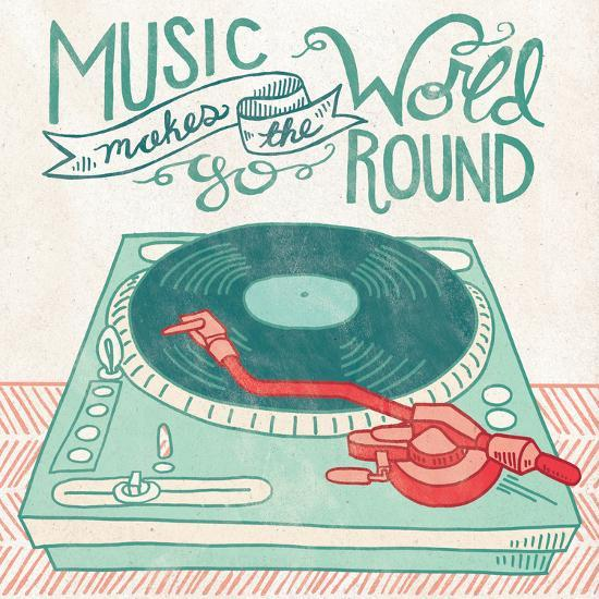 Retro Record Player-Mary Urban-Art Print