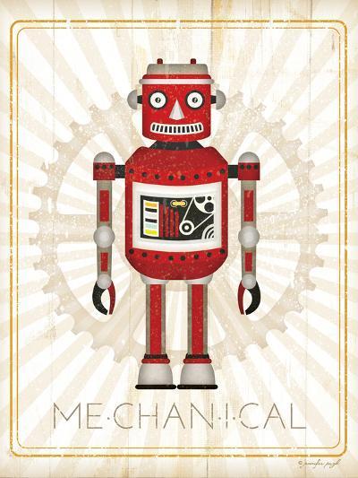 Retro Robot III-Jennifer Pugh-Art Print