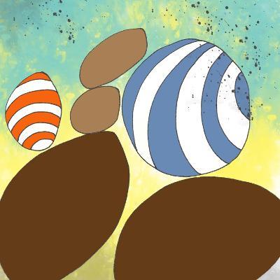 retro rocks Three-Jan Weiss-Art Print