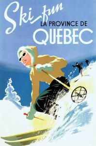 Retro Skiing Poster