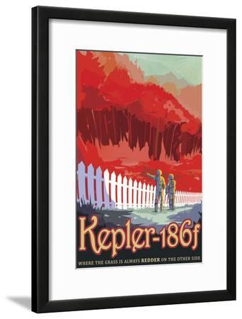 Retro Space Poster of Kepler-186F