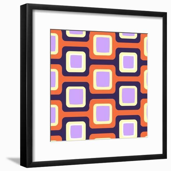 Retro Squares Pattern--Framed Giclee Print