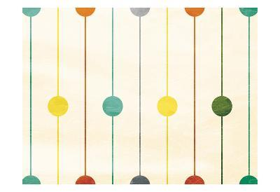Retro Stripe Circles-Jace Grey-Art Print