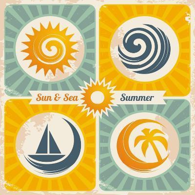 Retro Summer Holiday Poster-Lukeruk-Art Print