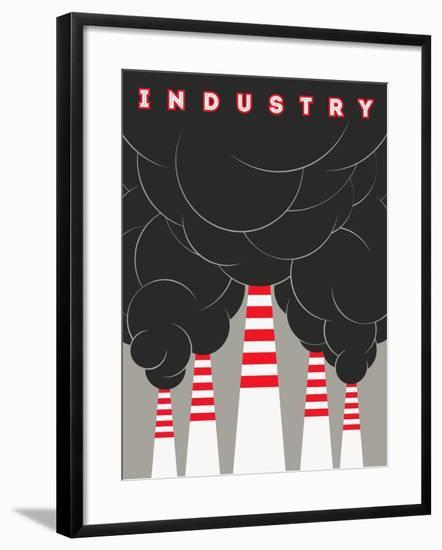 Retro Typographical Industry Illustration-ZOO BY-Framed Premium Giclee Print