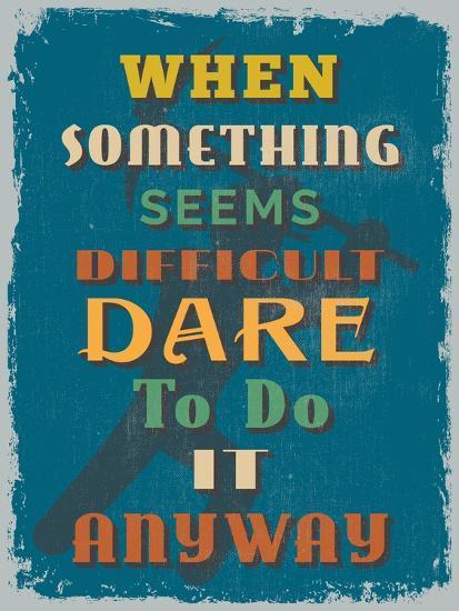 Retro Vintage Motivational Quote Poster. Vector Illustration-sibgat-Art Print