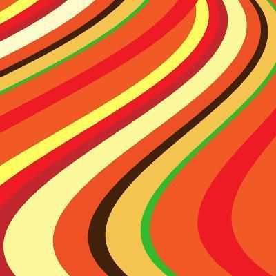 Retro Wave Pattern--Giclee Print