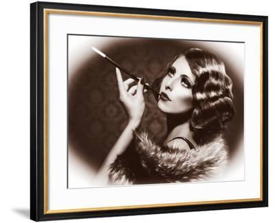 Retro Woman Portrait-Subbotina Anna-Framed Photographic Print
