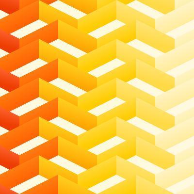 Retro Zigzag Pattern-vitavalka-Art Print