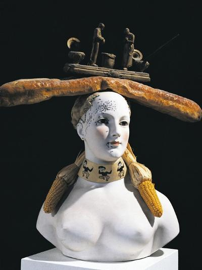 Retrospective Bust of Woman, 1933-Salvador Dal?-Giclee Print